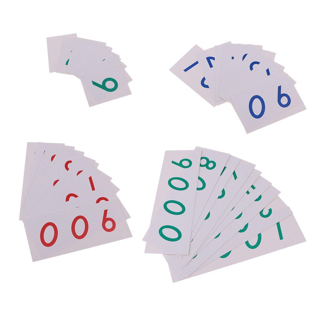 G/én/érique Montessori Mathematics 1-9000 Nombre De Cartes Papier pour Le Calcul