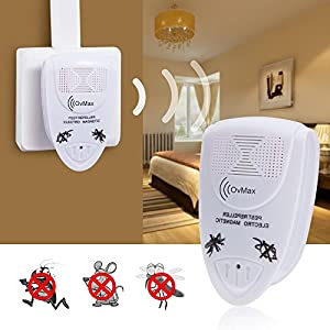 Ultrasonic Pest Repeller Electronic Plug In Indoor Pest Control Repellent Device for Repels Insects as Mice,Mosquitoes,Cockroaches Humans & Pets Safe (White,3 Pack)