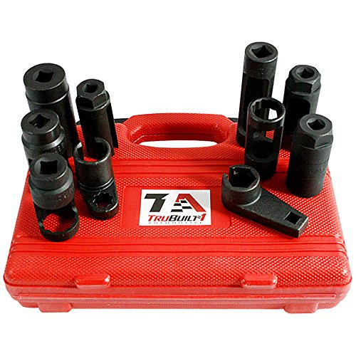 TruBuilt 1 Automotive 10 Piece Lambda Sensor / Oxygen O2 Sensor and Oil Pressure Sending Unit Master Socket Set - HEAVY DUTY PROFESSIONAL GRADE Oil Pressure Sender Unit