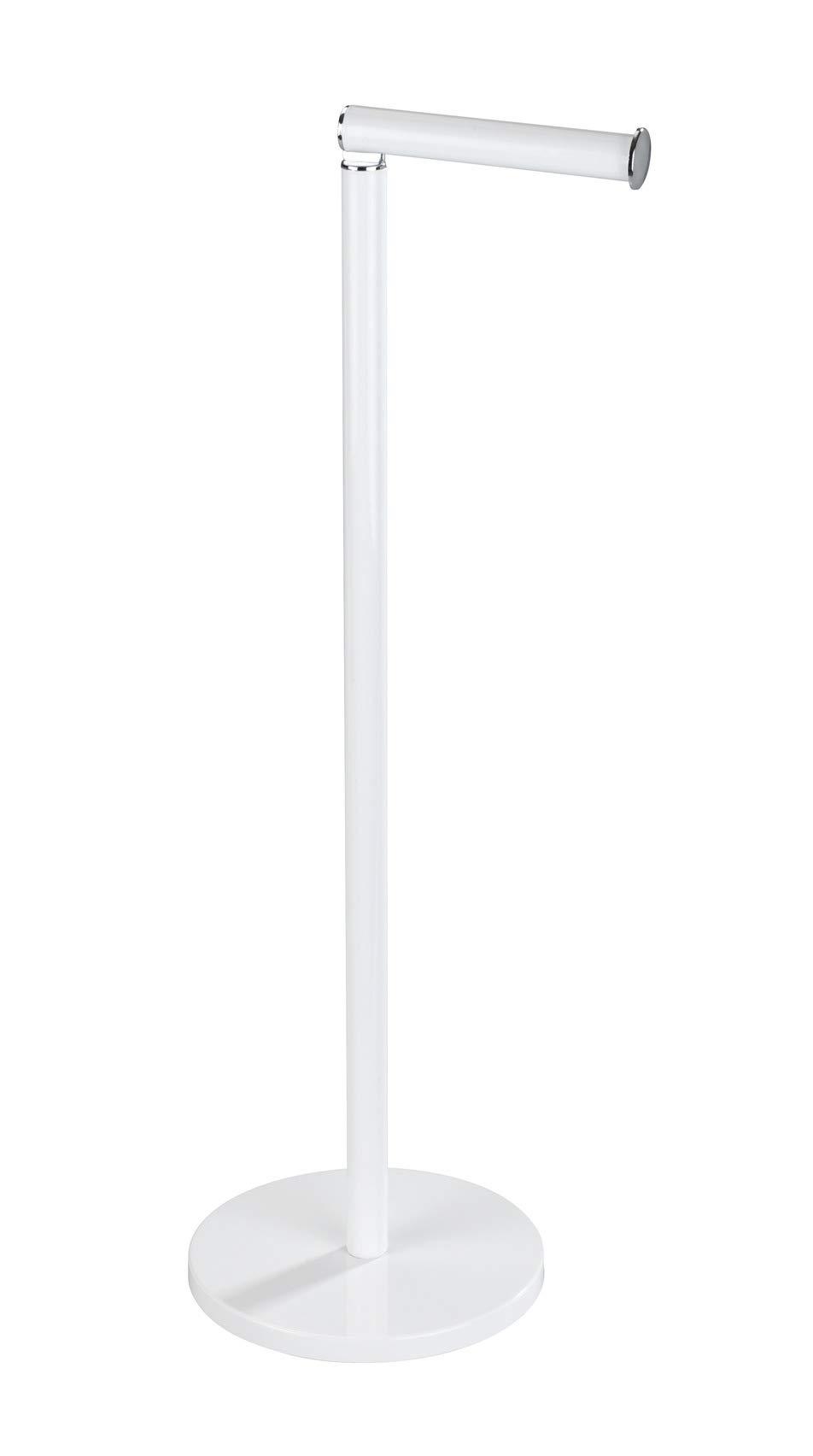 WENKO 21424100 Free Standing Toilet Paper Holder, 8.3 x 21.7 x 6.7 inch, White