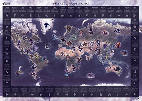 Mythical Monster Map Legendary Illustrated product image