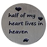 Jewelry Monster Stainless Steel 'Half of My Heart Lives in Heaven' Plate for Floating Charm Lockets