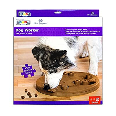 Nina Ottosson Dog Worker Treat Dispensing Dog Toy Brain and Exercise Game for Dogs