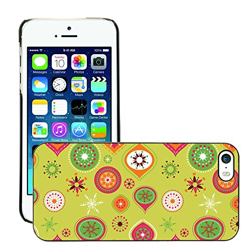 Hülle Case Schutzhülle Cover Premium Case // V00002718 Weihnachtsmuster // Apple iPhone 5 5S 5G