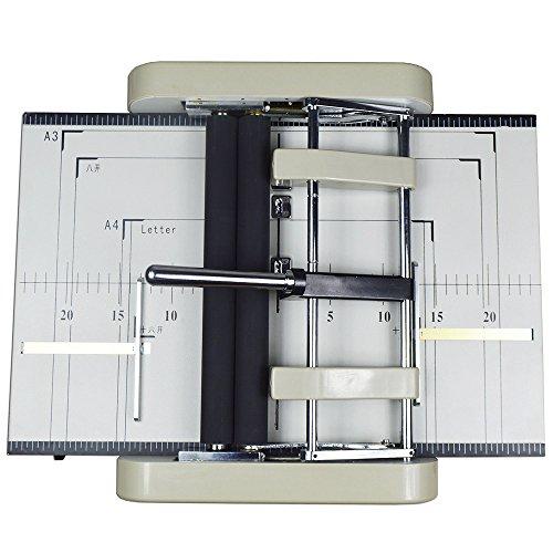 110v Automatic Book Binder Staple Folder Booklet Maker