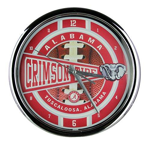 The Memory Company Alabama Chrome Clock -
