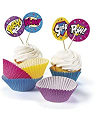 Superhero Girl Cupcake Wrappers with Picks