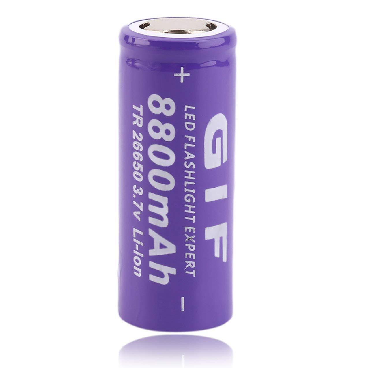 3.7V 26650 8800mAh Li-Ion Akku, 3.7V 26650 8800mAh Li-Ion Akku für LED Taschenlampe Li-Ion Taschenlampe sicher und umweltfreundlich Redstrong