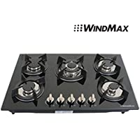 !!! ON SALE NOW!!! 30 Fashion Black Tempered Glass Built-in Kitchen Natural Gas 5 Burner Gas Hob CookTop