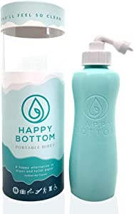 Happy Bottom Washer a Portable Bidet - Handheld Portable Bidet & Peri Bottle for Home or Travel. Eco Friendly, Sanitary, and Natural. By The Happy Brand Company (Caribbean Sea Turquoise)