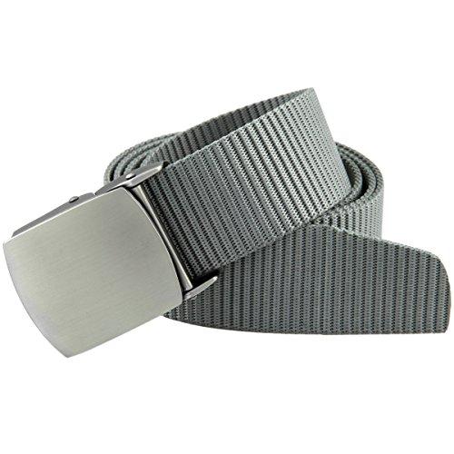 Moonsix Men's Tactical Nylon Belt,Military Style Outdoor Duty Webbing Buckle Belts(Grey) (Grey Belt Buckle)