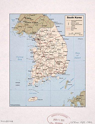 Map Poster - South Korea. 11' x 14'