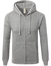 Men's Triblend Hipster Fleece Full Zip Up With Kanga Pocket Hoodies