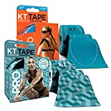 KT Tape PRO Precut 40-Strip Synthetic Kinesiology Tape Two-Roll Bundle - Aquaduct & Laser Blue