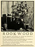 1927 Ad Rookwood Pottery Floral Flower Vases Ox Blood Glaze Household Decor Ohio - Original Print Ad