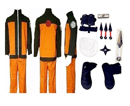 Naruto 2nd Uzumaki Naruto cosplay costume whole (Naruto Costumes)