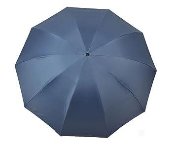 10 Hueso Anti-Viento Plegable Gran Paraguas, Los Hombres Y Las Mujeres Visera De