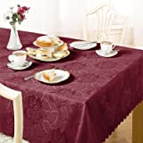 Emma Barclay Damask Rose Tablecloth, Wine, 50 x 70 Inch