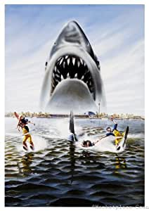 Amazon.com: Jaws 3D Movie Poster 24x36in textless art ...