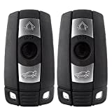ECCPP 2X 3 Button Replacement Keyless Entry Remote Control Ignition Key Fob for BMW Series KR55WK49127 315MHz