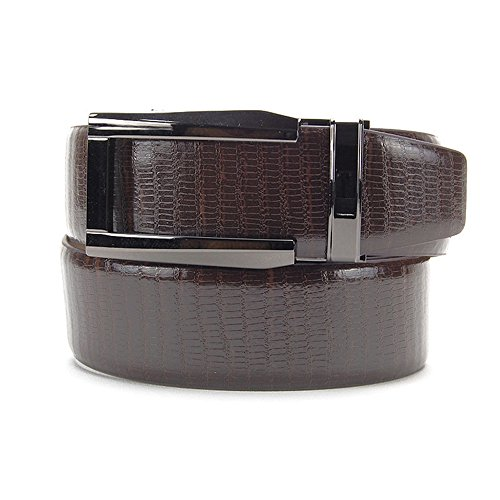 Nexbelt Premium Series: Reptile Belt (Lizard Brown w/ Gunmetal Buckle) (Reptile Buckle Belt)