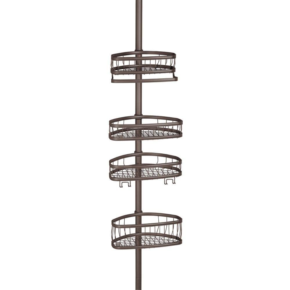 InterDesign York Constant Tension Shower Caddy – Bathroom Storage Shelves for Shampoo, Conditioner, Soap and Razors, Bronze by InterDesign (Image #9)