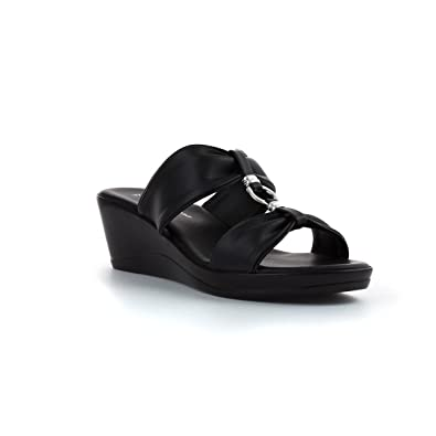 9328a79d9d6 Lilley & Skinner Womens Black Wedge Mule Sandal: Amazon.co.uk: Shoes ...