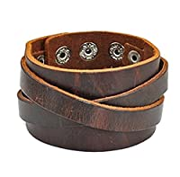 Real Leather Cuff Women Leather Bangle Bracelet, Men Leather Cuff Bracelet, Wide Belt bracelet