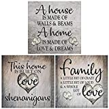 HaiMay 3 Pack DIY 5D Diamond Painting Kits Full Drill Rhinestone Diamond Paintings Pictures New Style Newspaper Painting, Family Love (12×12inch)
