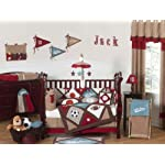 Sweet-Jojo-Designs-2-Piece-All-Star-Sports-Teething-Protector-Cover-Wrap-Baby-Boy-Crib-Side-Rail-Guards