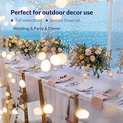 Homestarry LED Fairy Lights Multi Color Changing Lights, Battery Powered with Remote Control, Waterproof Decorative Silver Wire, Bedroom,Patio,Indoor,Party,16.4 ft 50LEDs 13 Colors ¡