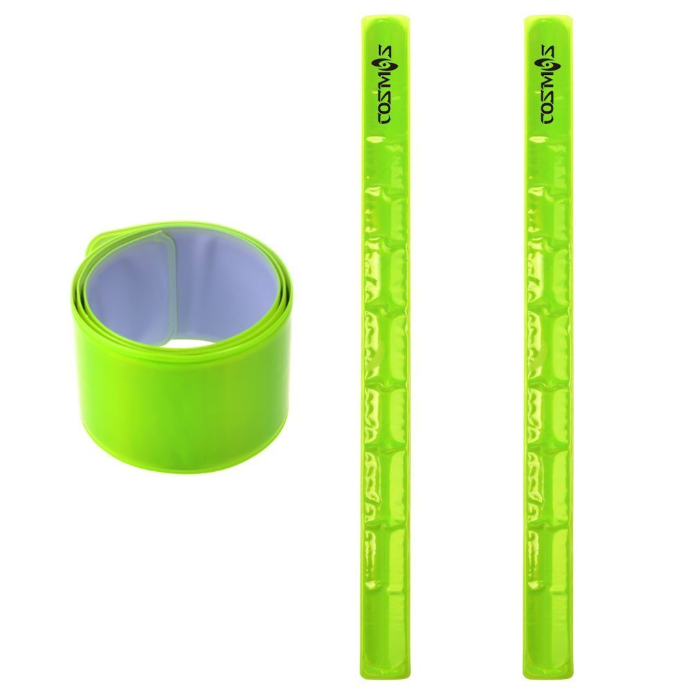 Cosmos Reflective Snap Pop Band Bracelets Pant Cuff Strap for Cycling//Bike//Running//Walking
