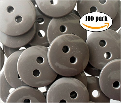 NDC Classic Gray Sewing Craft Buttons 100 Pack Grey Sewing Buttons