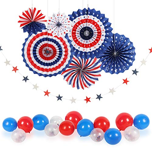 4th/Fourth of July Patriotic Decorations - Star Latex