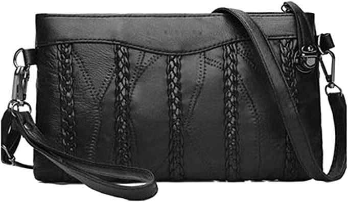 New Studded Synthetic Leather Tassel Hard Compact Ladies Clutch Bag