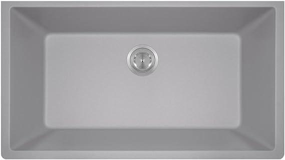 Mr Direct 848 Silver Quartz Granite Kitchen Sink Silver Amazon Com