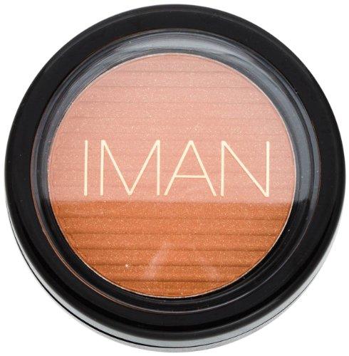 Iman Cosmetics Luxury Blushing Powder, Sunlit Copper (Foundation Copper Powder)