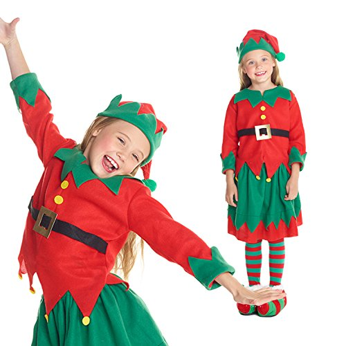 Girls Christmas Toyshop Elf Fancy Dress Costume - High Quality Costume, Small (43-48 Ins/110cm-122cm), (Quality Costumes)