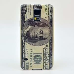 Winnema 100 USD Dollar Pattern Snap-on Hard Plastic Back Case Cover for Galaxy S5 / Galaxy SV / Galaxy S V (2014)