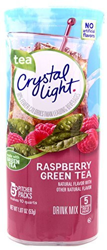 Crystal Light, Raspberry Green Tea Drink Mix, 1.87-Ounce Canister (Pack of 3)