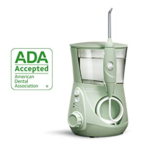 Waterpik Water Flosser Electric Dental Countertop Professional Oral Irrigator For Teeth, Aquarius, WP-668 Mint Green
