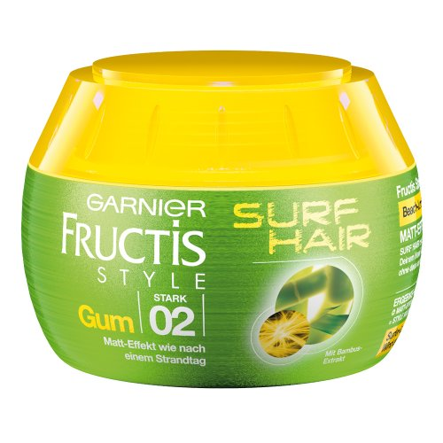 Garnier Fructis Style Haargel Surf Hair / Styling Gel für Matt-Effekt wie nach einem Strandtag (mit Bambus-Extrakt) 3er Pack - 150ml