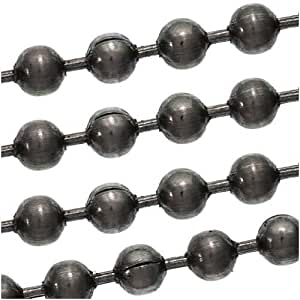 Black enameled steel ball chain sold for Craft chain by the foot