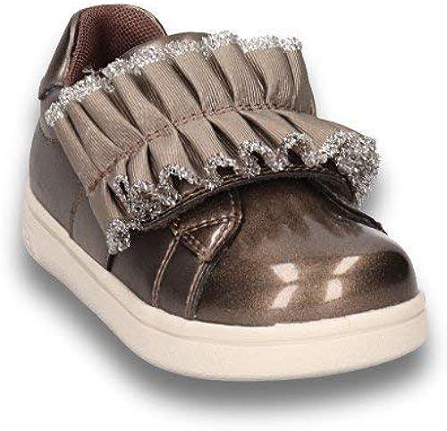Geox Sneakers Baby Girl Pelle Taupe Modello DjRock G.A