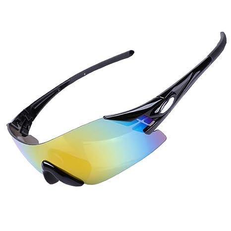Protezione KUWOMINI.UV Outdoor Sport Occhiali Da Sole,Black-AllCode