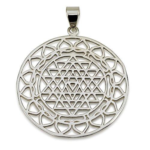 Sri Yantra Pendant Sterling Silver 925 Size 1.5