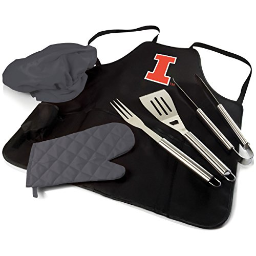 NCAA Illinois Fighting Illini BBQ Apron Tote ()