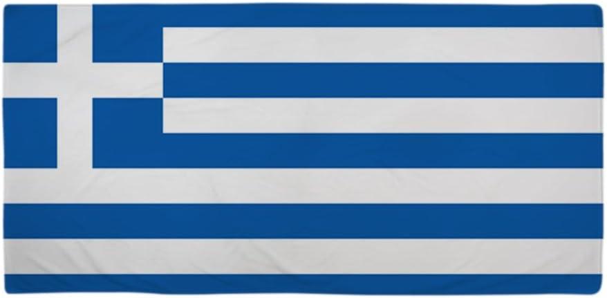 CafePress bandera de Grecia toalla de playa – blanco estándar: Amazon.es: Hogar