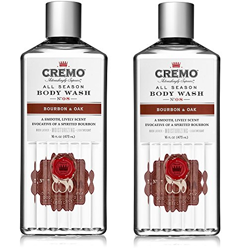 Cremo All Season Body Wash, Bourbon & Oak, 16 Ounce, 2-pack - Masculine Scent with a Tantalizing Essence of Lively Distiller