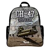 Custom Backpack Travel Bag Printing USAF CH-47 Chinook Helicopter (PU,Large)